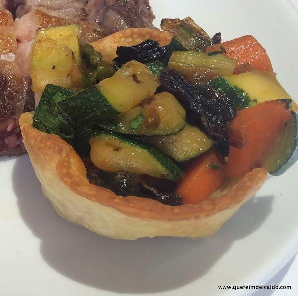 Tartaletas de verduras asadas   Cocinar en casa es facilisimo.com