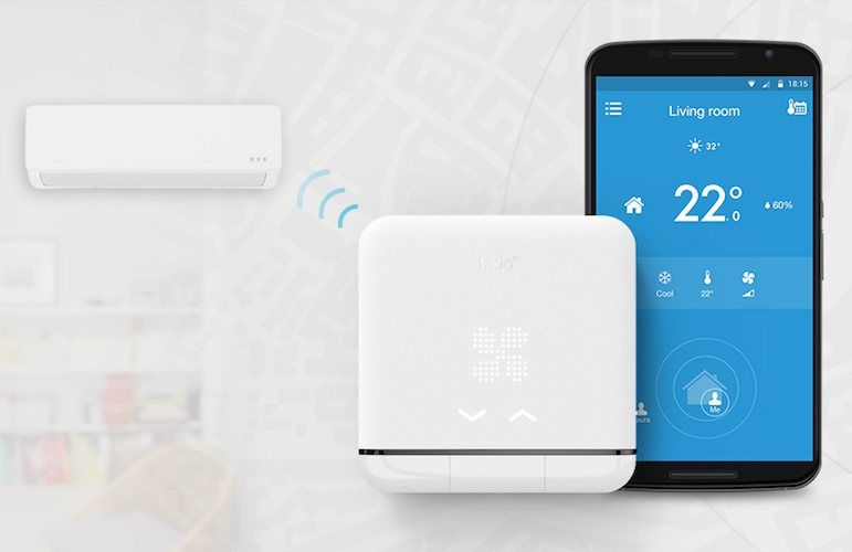 The Smart AC Control that uses your phone's location to cut your energy bill. tado° automatically adjusts the AC based on your location: cool before you get home, saving when you're away.