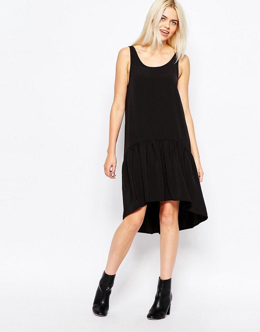 Image 1 ofMonki Drop Hem Dress