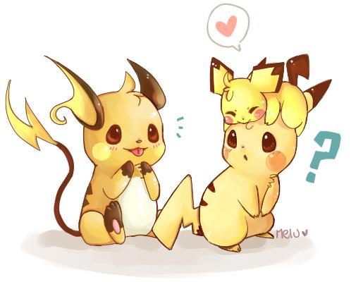Pichu Pikachu Y Raichu Pokemon Dibujos De Pokemon Imagenes De
