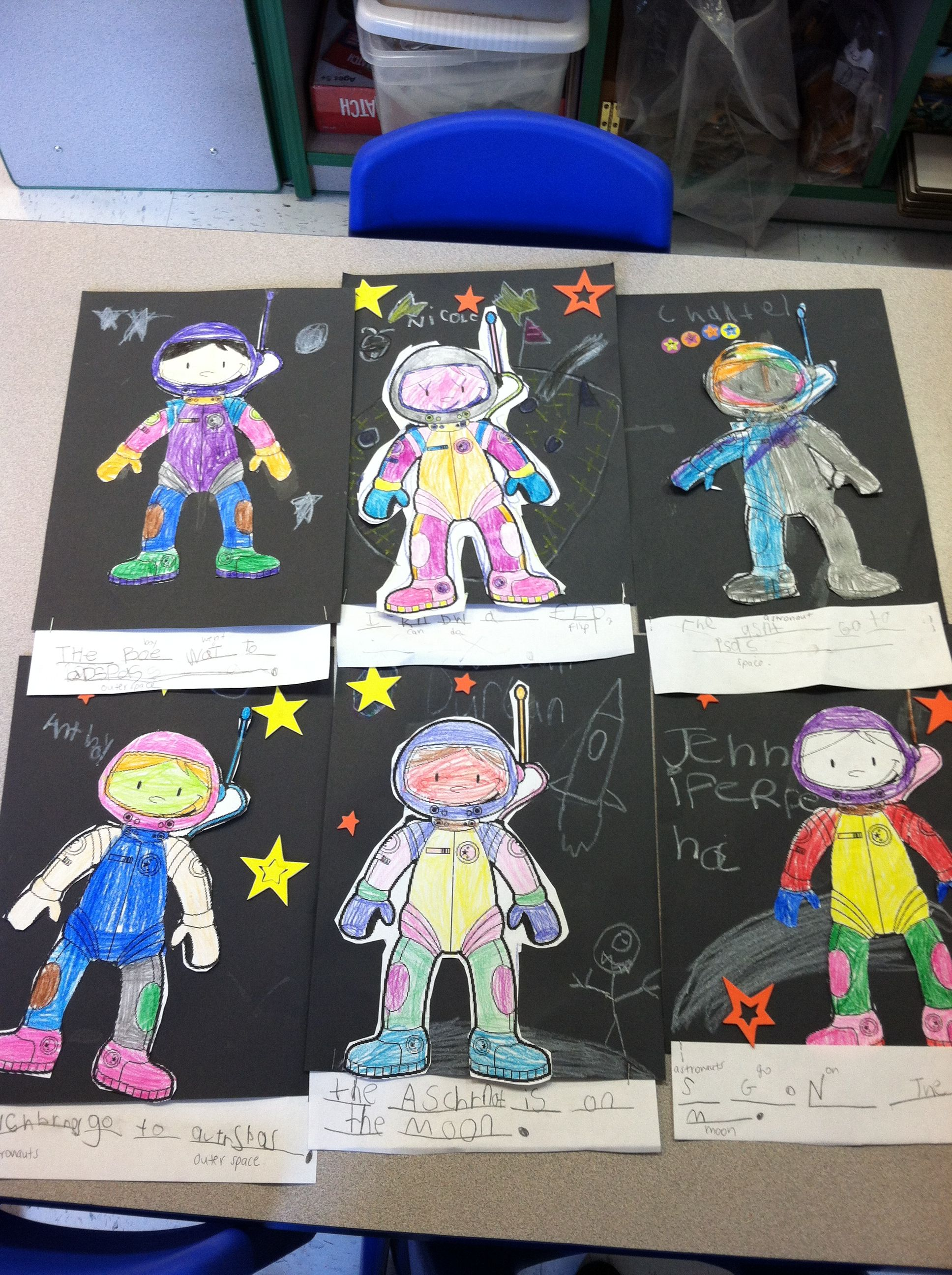 My Kindergarteners Made Astronauts For Magic Tree House Midnight On The Moon
