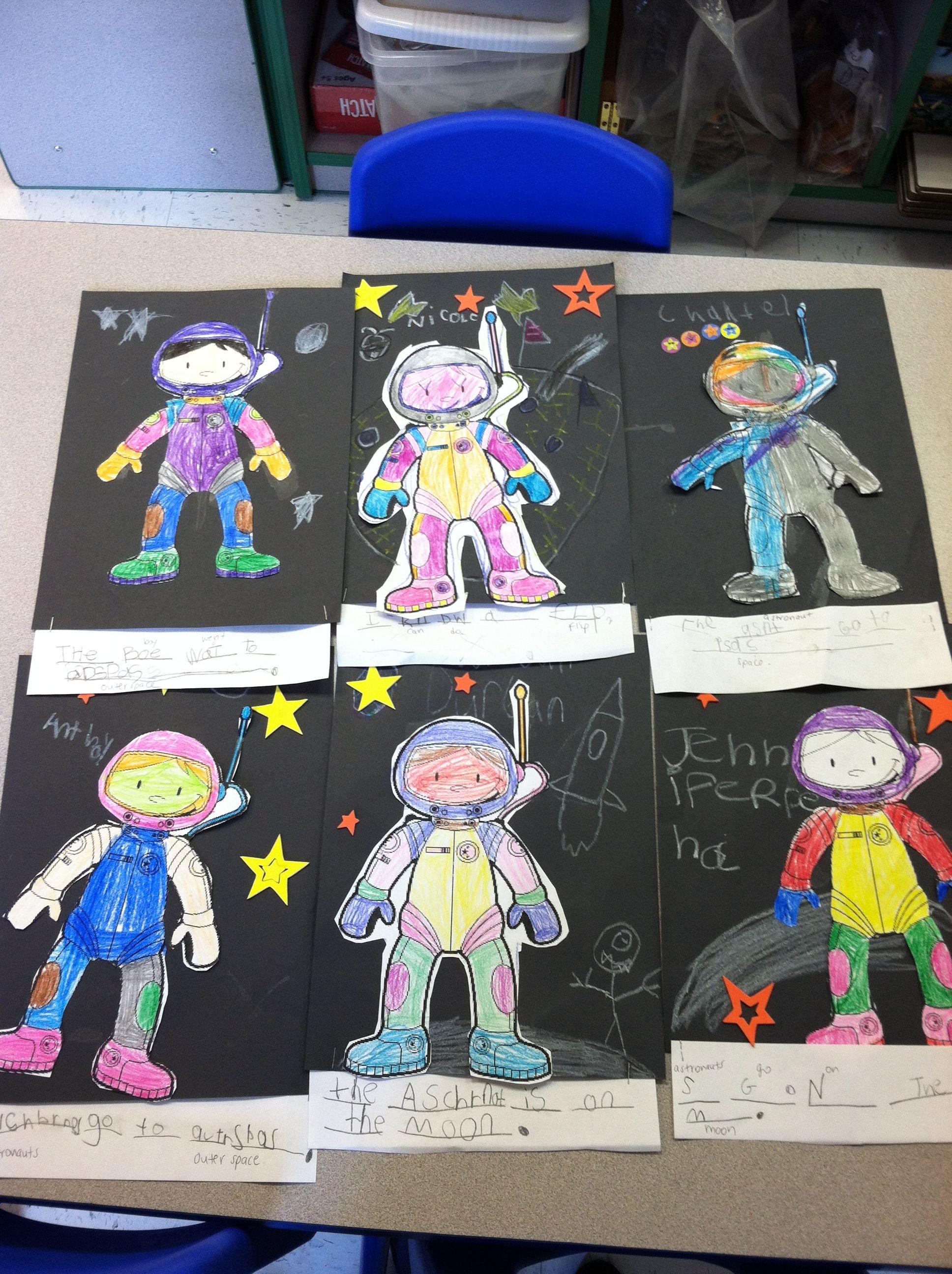 My Kindergarteners Made Astronauts For Magic Tree House