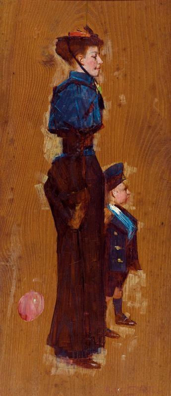 Arthur Ernest Streeton (1867-1943) Australia: Auntie, 1893