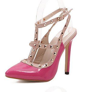 Leather Women's Shoes Stiletto Heel Pumps WithRivet    Women's Party Shoes(More Colors) - USD $ 21.74