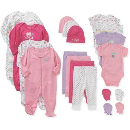 Garanimals Newborn Baby Girl 21 Pc Layette Baby Shower Gift Set ...