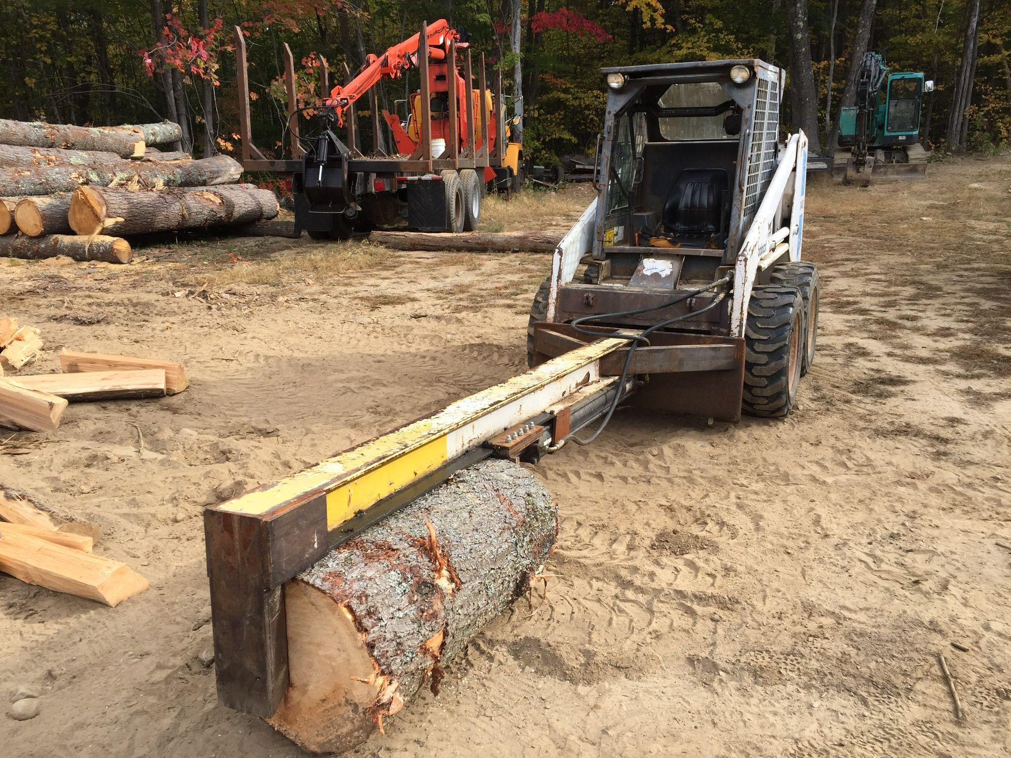 Homemade Log Splitter on Bobcat Haardhout, Staal