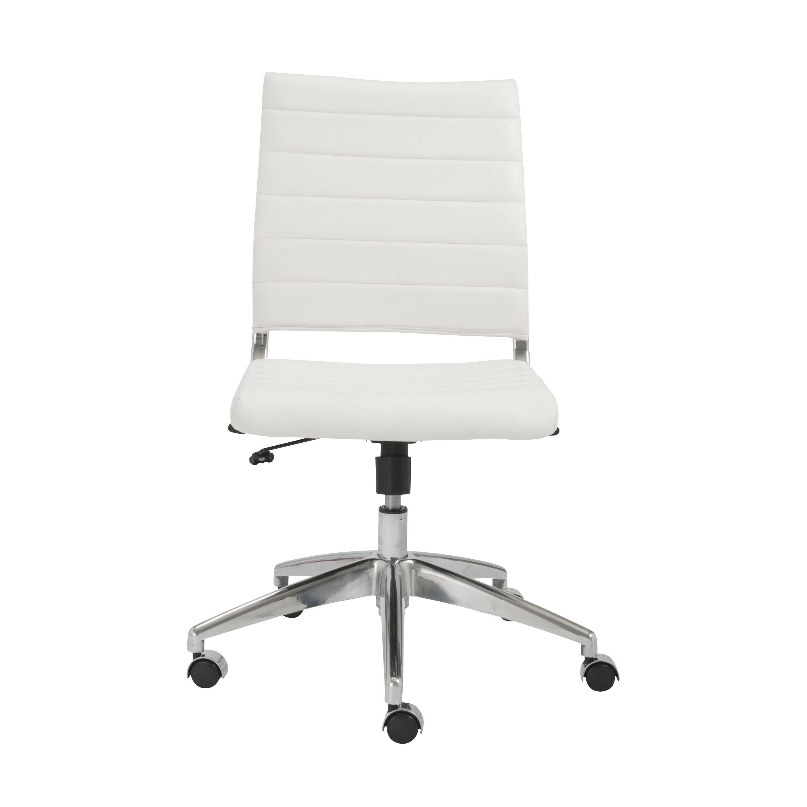 Axel Low Back Office Chair Without Armrests In White With