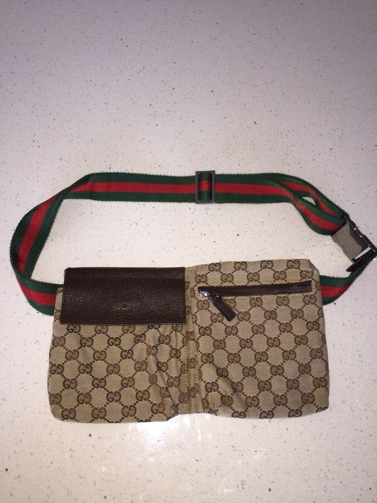 db46de7f153 Authentic Vintage GUCCI Waist Belt Bum Bag Fanny Pack Purse handbag Unisex
