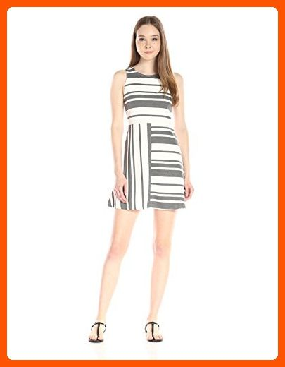 0b8018c4bf58 Olive & Oak Women's Striped Midi Dress, Grey/White, Small - All about women  (*Amazon Partner-Link)