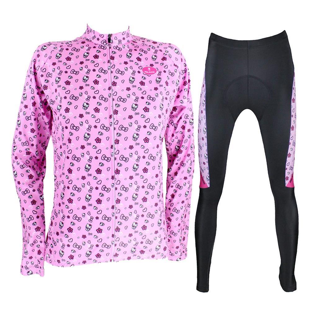 61be95c69 Cartoon World-HELLO KITTY Women's Professional Cycling Suit/Jersey Sport  Wear Pink/Black/White