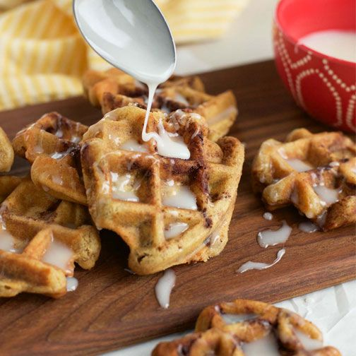 20 Minute Cinnamon Roll Waffles Recipe - RecipeChart.com