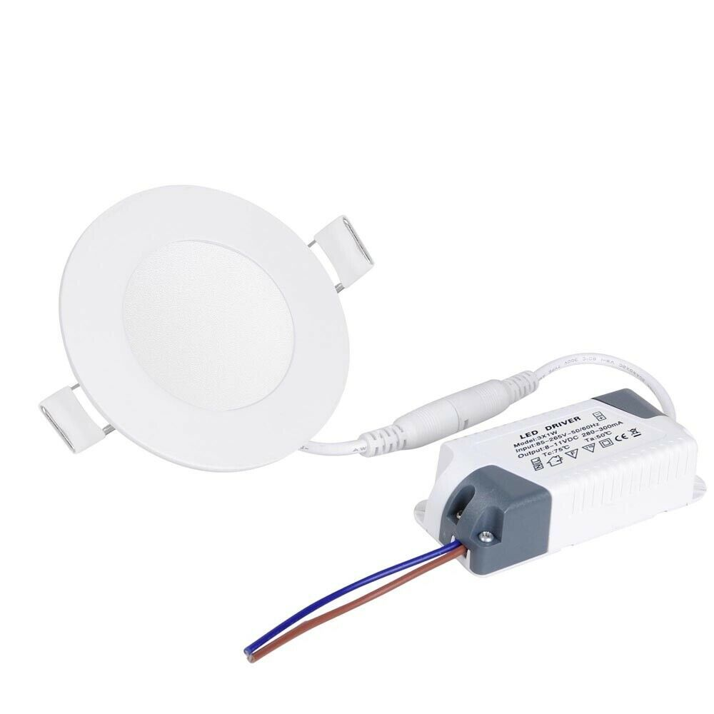 """4X 18W 8/""""Round Warm White LED Dimmable Recessed Ceiling Panel Down Light Fixture"""