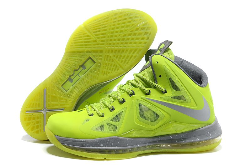 Cheap Nike Lebron 10 Shoes Fluorescent Green Grey, cheap Nike Lebron 10 Mens,  If you want to look Cheap Nike Lebron 10 Shoes Fluorescent Green Grey, ...
