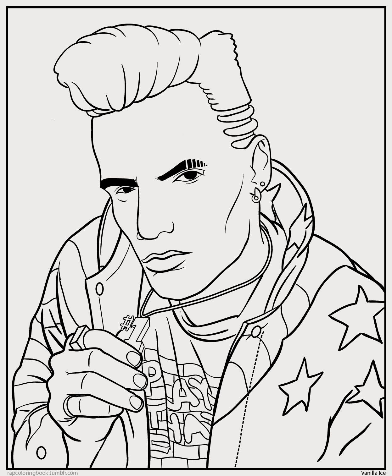 Bun B S Jumbo Coloring And Rap Activity Tumblr Click Here To Download The Vanilla Ice Coloring People Coloring Pages Coloring Pages Coloring Books