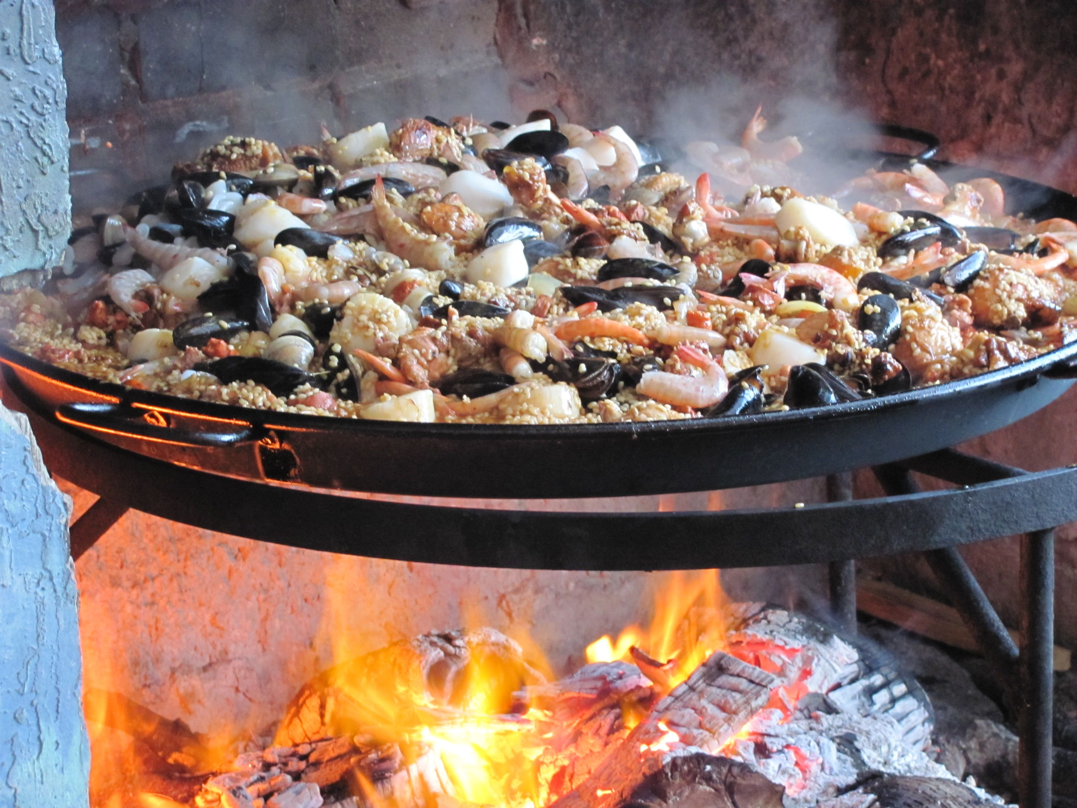 Open fire cooked paellathis would work great with our