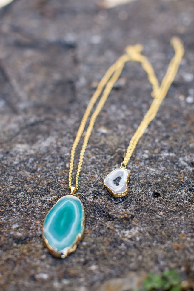 2 step diy pendant necklace with agate pendants agate and 2 step diy pendant necklace with agate mozeypictures Images