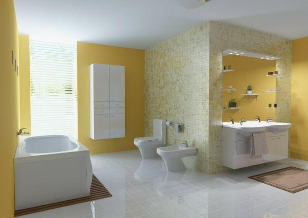 Schön Interessante Beeindruckende Gestaltungsideen Für Badezimmer In Gelb
