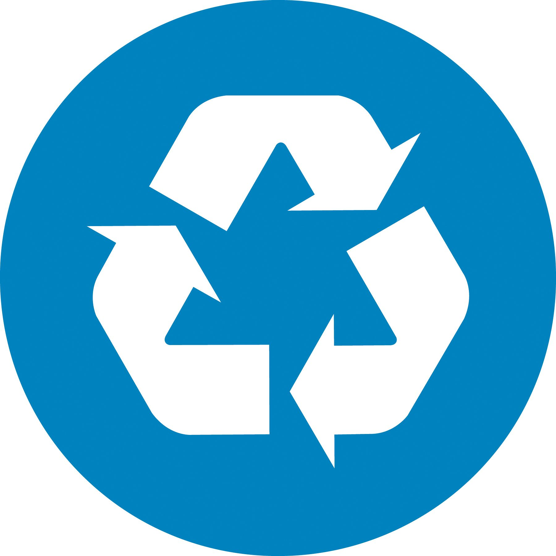 This Is A Recycle Logo It Is Blue And Also It Is White Bike Shop