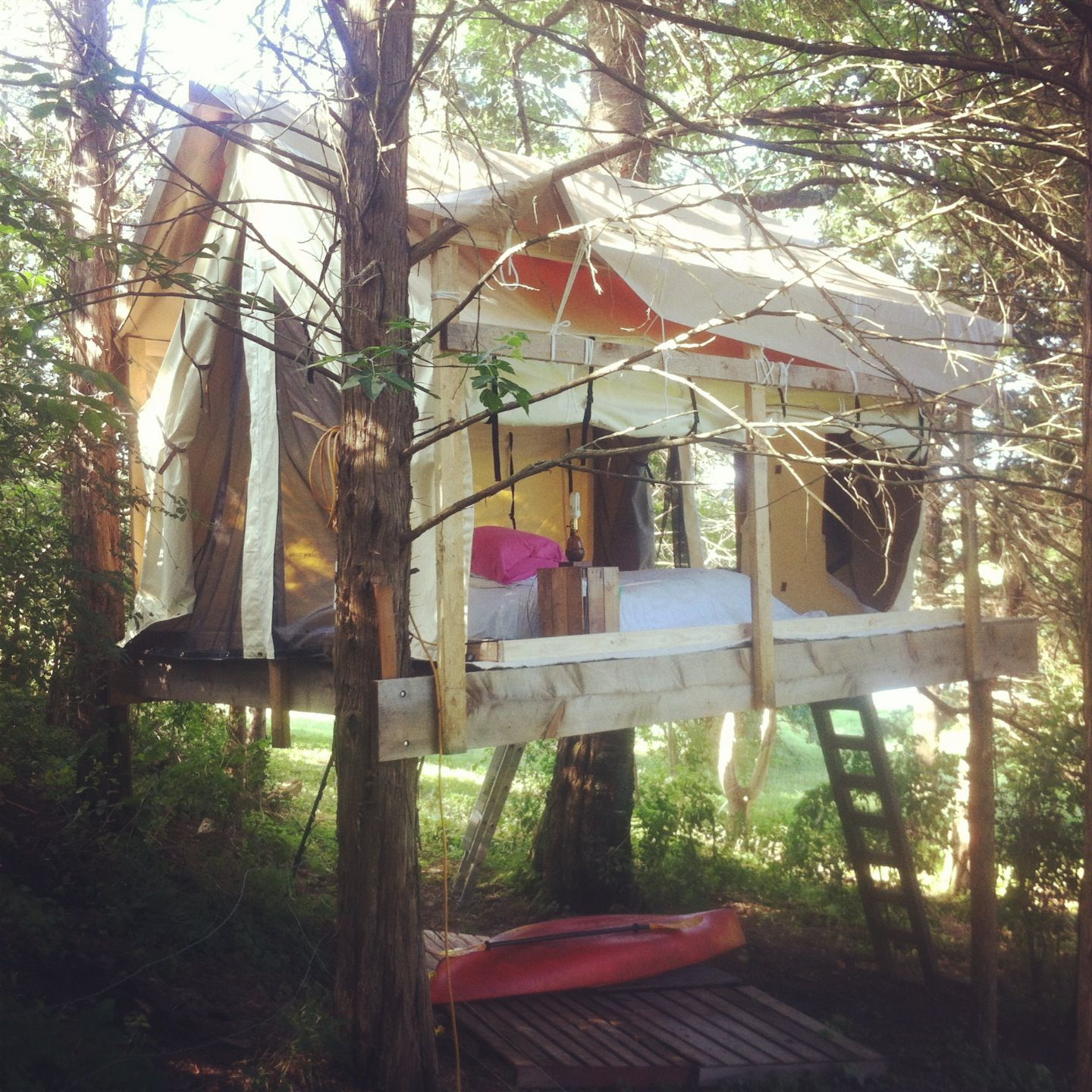 Building a tent platform & Building a tent platform | Camp | Pinterest | Tents Tree houses ...