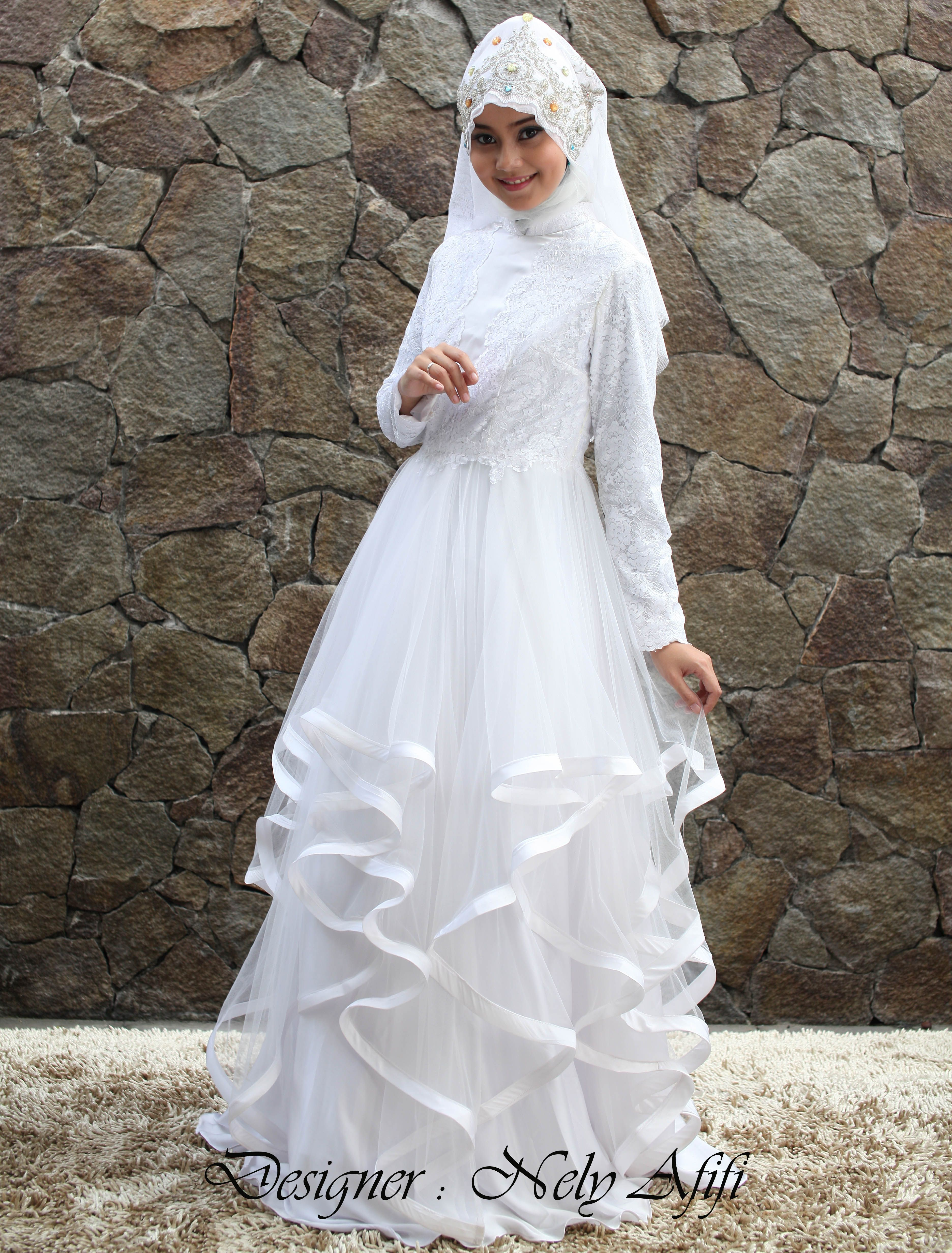 Kumpulan Gambar Sketsa Gaun Pengantin Muslimah