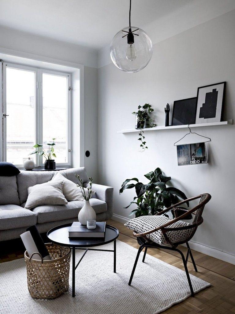 62 Stunning Black White Living Room Decor Trends Living Room Scandinavian Small Living Room Decor Minimalist Living Room