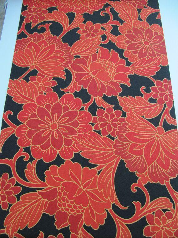 Japanese haori kimono silk 2 yds of bright by PinkBirdhouseVintage