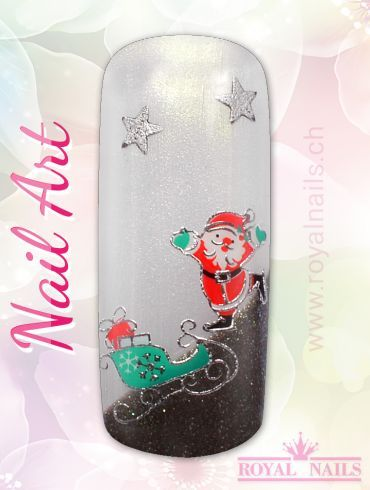 Christmas - Weihnachten Nail Art Design Inspiration Nr. 256 #christmas #weihnachten #santa-claus #nail-art #nailart #winter-holidays