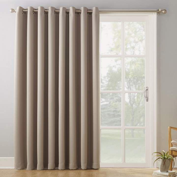 Sun Zero Blackout 1 Panel Ludlow Patio Door Window Curtain 100 X 84 Door Coverings Sliding Door Curtains Sliding Door Coverings