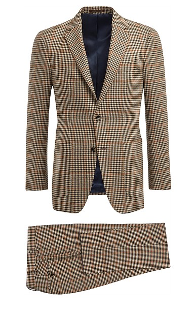 5 Days, 5 Ways: The Patterned Suit . Day 16 of #NoJeansJanuary. check, brown, suit, pattern, suit supply