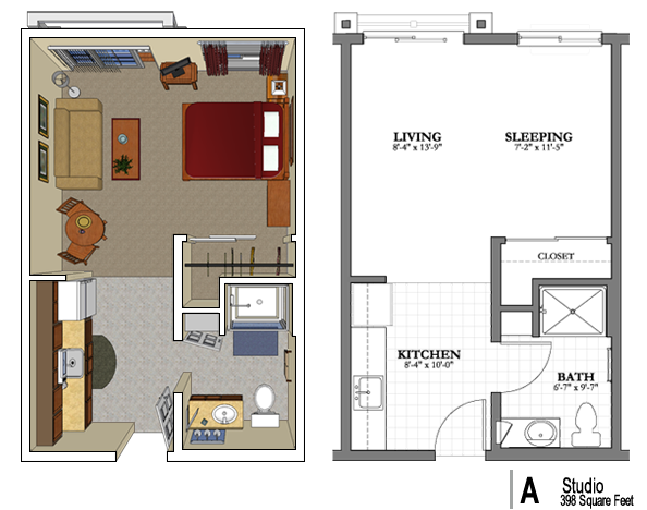 Phoenix senior apartment floor plans mountain park for House plans for senior living