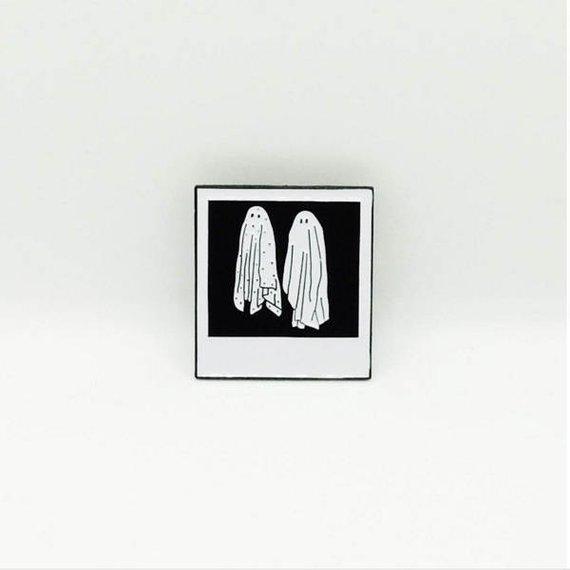 "Beetlejuice Ghost Polaroid 1.25"" Soft Enamel Pin"