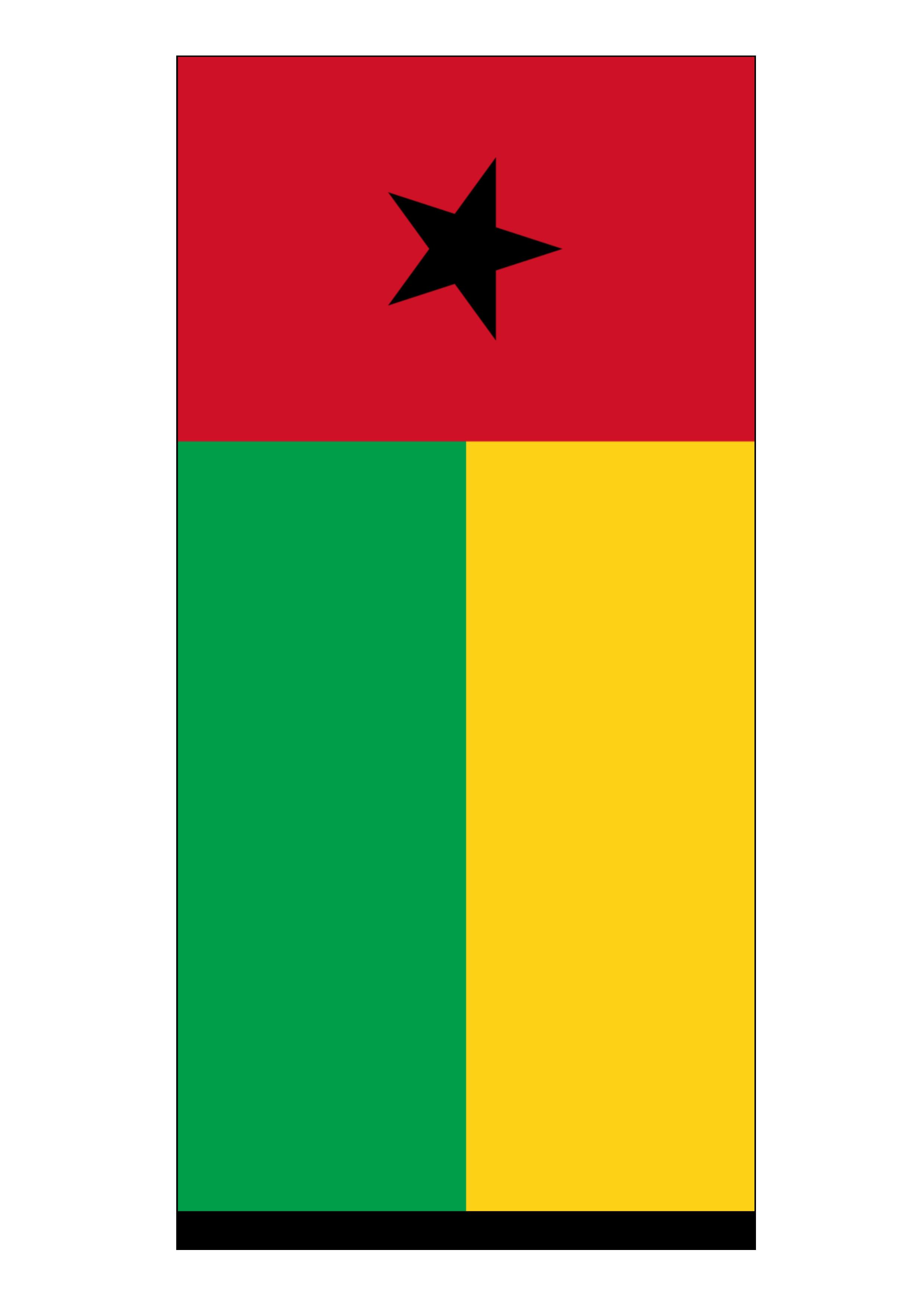 guinea bissau flag free printable guinea bissau flag templates