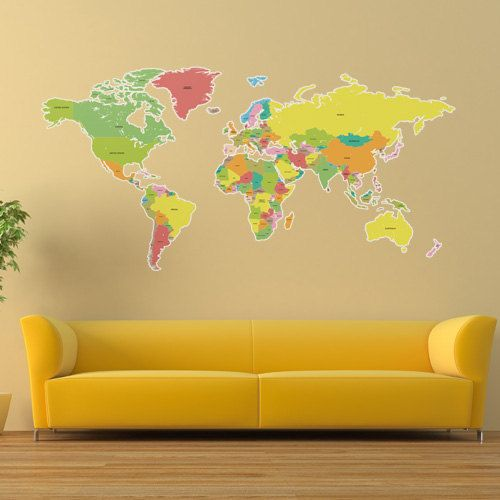 Large labelled world map wall sticker by thebinarybox on etsy large labelled world map wall sticker by thebinarybox on etsy 7999 gumiabroncs Image collections