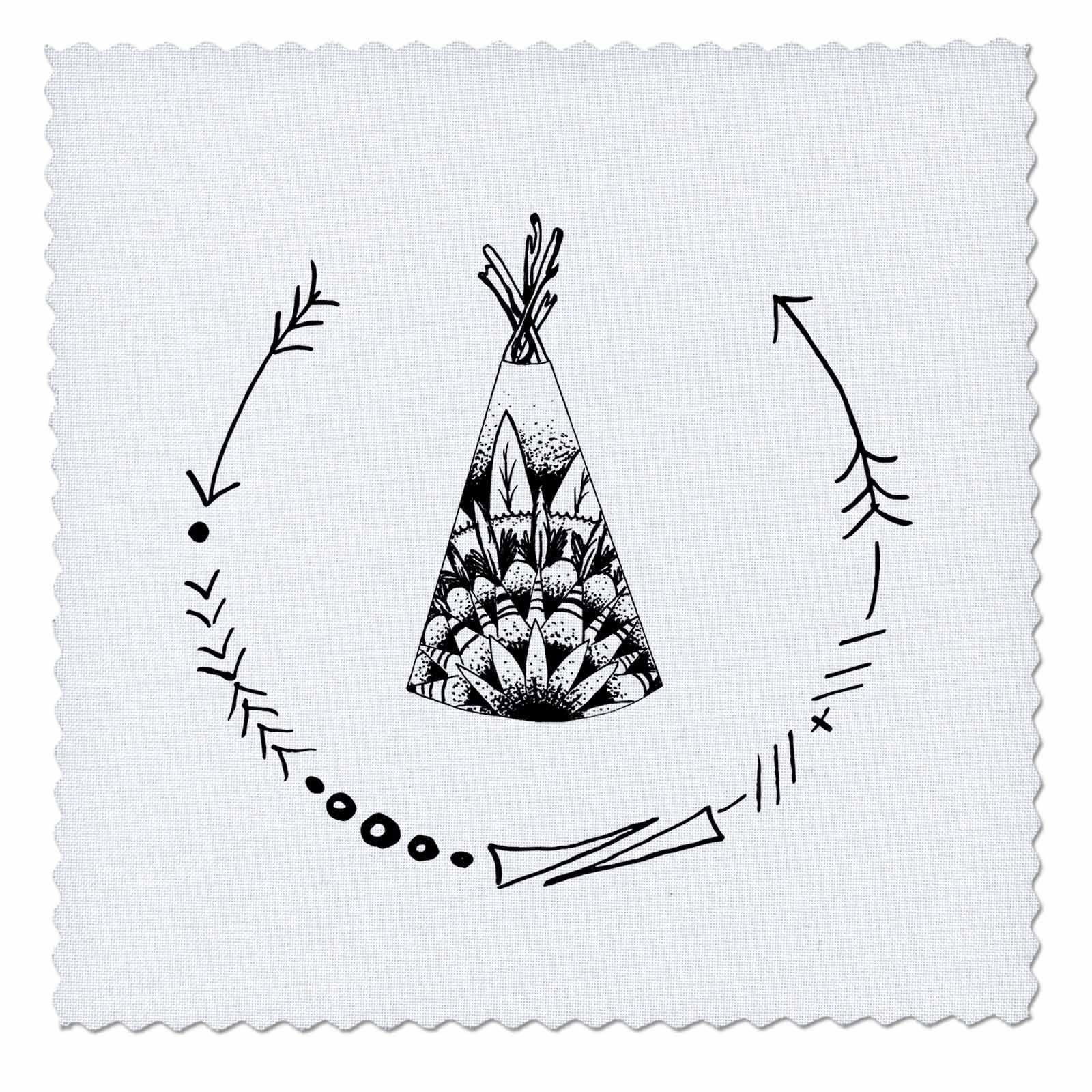 Amazon.com: TNMGraphics Old West - Teepee With Arrow Curved Frame ... : quilt square tattoo - Adamdwight.com