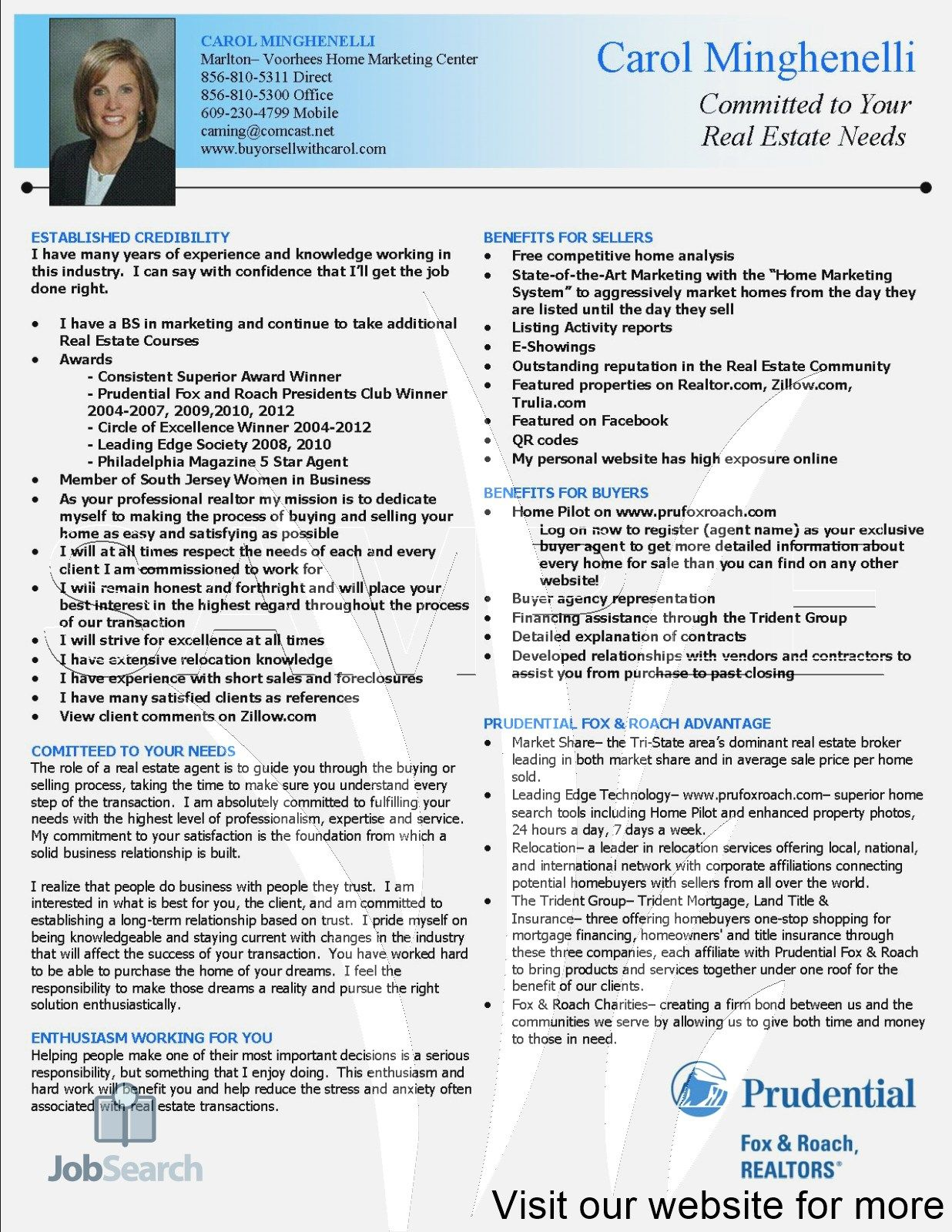 Real Estate Agent Resume Examples #realestatetips
