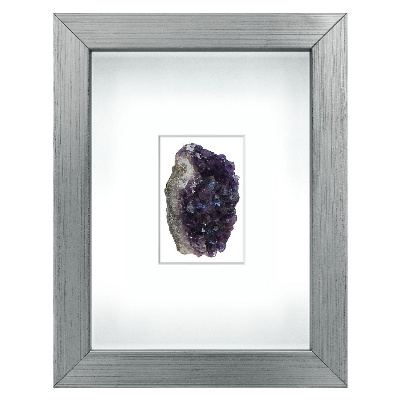 Quartz & Amethyst Shadow Box Framed Art #Zincdoor