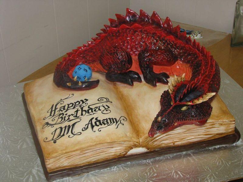 торт, дракон, пирог, красивый,