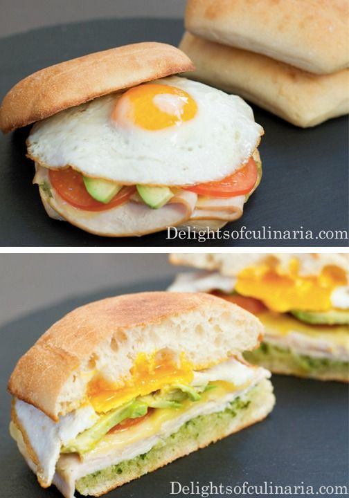 Spice up your classic breakfast sandwich by adding pesto! Everyone will love this tasty take on their favorite meal.