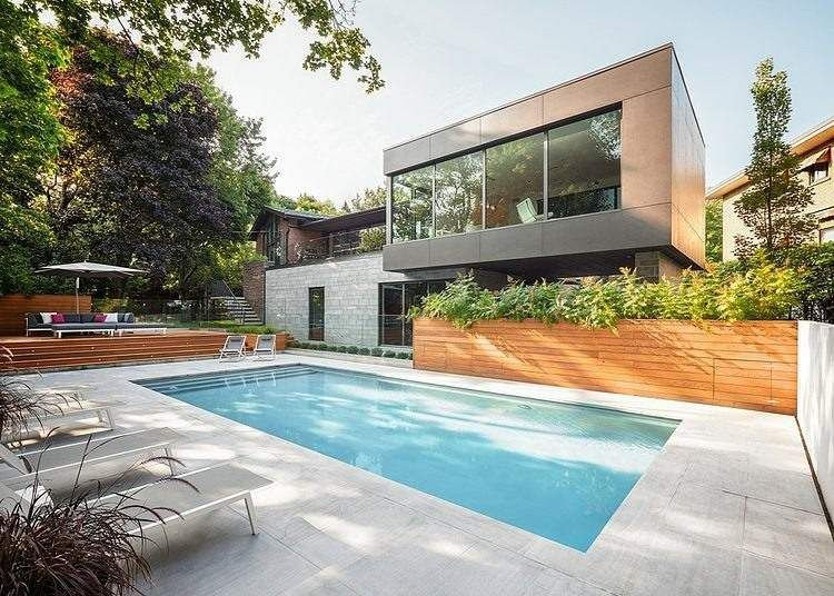 Aménagement jardin avec piscine: 75 idées pour s\'inspirer | piscine ...