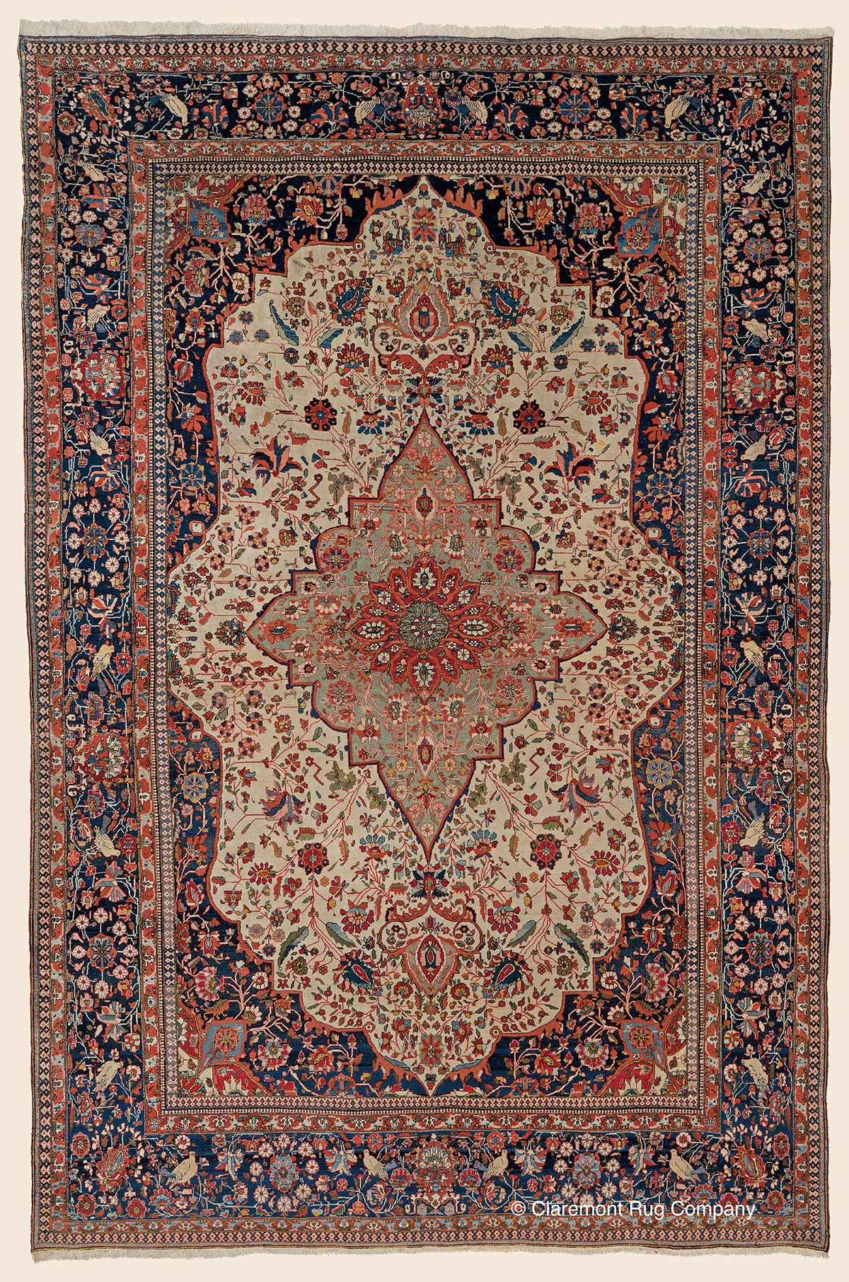 Mohtasham Kashan Central Persian Antique 7 10 X 12 1 Late 19th Century Rug Claremont Rug Company Click To Carpet Handmade Antique Persian Carpet Rugs