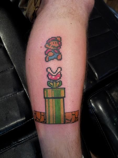 Old School Mario Bros Tattoo Tattoos Pinterest Tatuajes