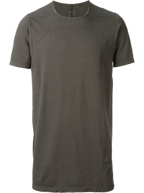 RICK OWENS DRKSHDW Exposed Seam T-Shirt. #rickowensdrkshdw #cloth #t-shirt