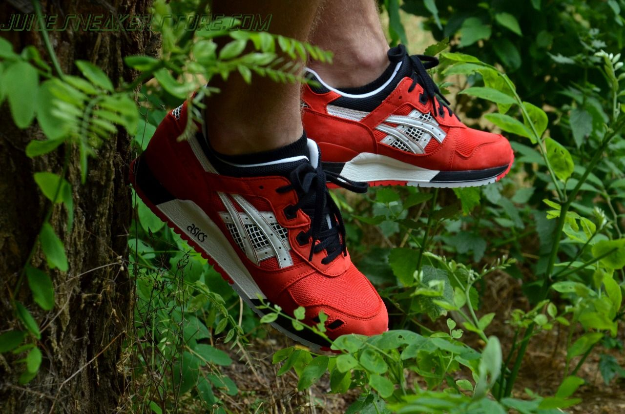 Asics Gel Lyte III - Red/Black (by juicesneakerstore)