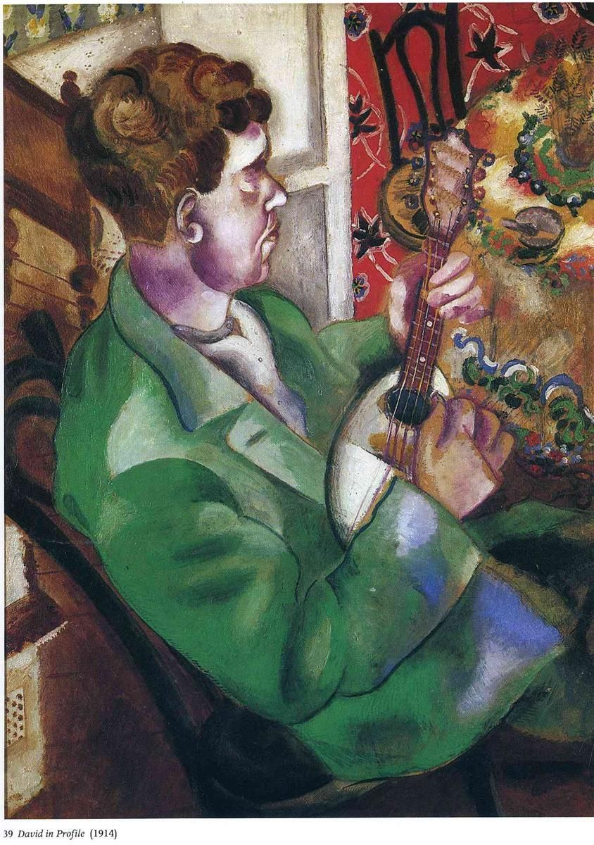 David in profile - Marc Chagall - (1914)