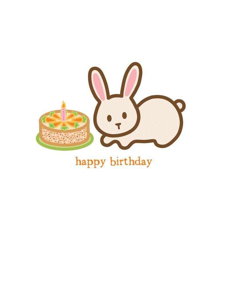 Заяц с днем рождения открытка