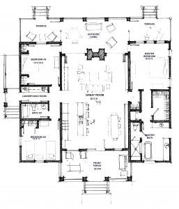 Floor Plan Of The Camellia Dogtrot A Frederick Frederick Close To Custom Plan Dog Trot House Plans House Floor Plans Story House