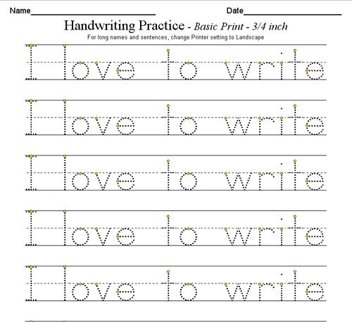 Custom handwriting worksheets – Handwriting Worksheet Maker for Kindergarten