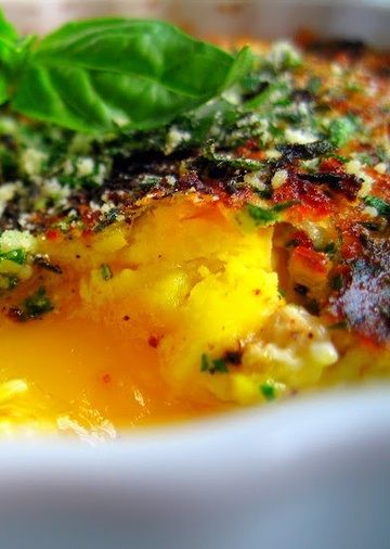 Herbed baked eggs resepti herbed baked eggs forumfinder Image collections