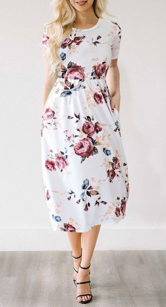 $29.99 Chicnico Feeling Gorgeous Floral Print Dress #modestfashion