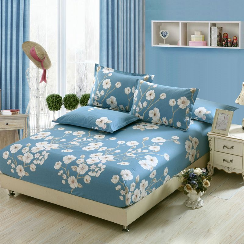 Floral Coarse Texture Twill Bedsheets Home decor